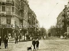 Historisches Foto aus Hamburg Hamm - Mittlestraße, Carl-Petersen-Straße.