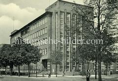 Historische Ansicht der Jahnschule in Hamburg-Harvestehude, Bogenstraße.