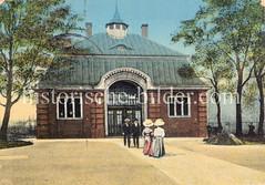Historische Ansicht der Haltestelle Berliner Tor in Hamburg St. Georg.