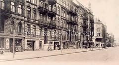 Alte Ansicht der Osterstraße im Hamburger Stadtteil Eimsbüttel.