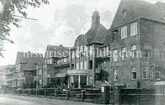Historische Ansicht vom Kinderkrankenhaus in der damaligen  Tresckowallee in Altona.