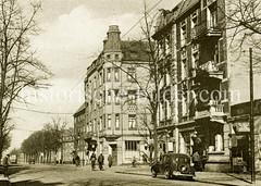 Historische Ansicht der Veringstraße im Hamburger Stadtteil Wilhelmsburg.