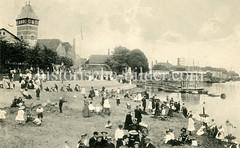 Historische Ansicht der Hansestadt Bremen, Vegesack - Strandleben.