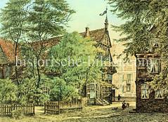 Blick in die Admiralitätsstraße und zum Alsterfleet in der Hamburger Neustadt ca. 1890.