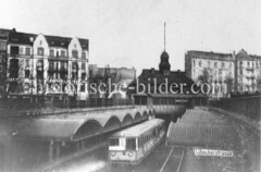 Historische Ansicht von der Hochbahnhaltestelle Lübecker Straße in Hamburg Hohenfelde