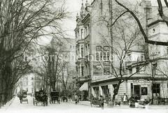 Historische Ansicht vom Mittelweg in Hamburg Rotherbaum.