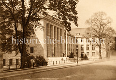 Historische Ansicht von der Standortkommandatur in der Sophienterrasse von Hamburg Harvestehude
