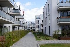 Fotos vom ehem. Güterbahnhof Lokstedt, Hamburg Groß Borstel.  Neubebauung des Geländes der Bahnanlagen - Bebbauungsplan Groß Borstel 25 -  Bau von 750 Wohnungen.