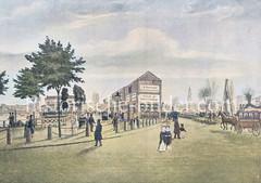 Nach dem Brand von 1842 wurden auf dem Jungfernstieg Behelfswohnungen errichtet.