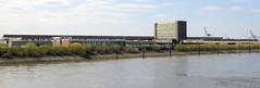 Bilder aus dem Kleinen Grasbrook, Stadtteil in Hamburg -  Übersee Zentrum; Blick über die Norderelbe.