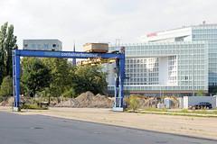 Containerbrücke  Containerterminal Lohseplatz - Verwaltungsgebäude des Spiegelverlags - Fotos aus dem Hamburger Stadtteil Hafencity.