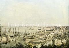 Blick  vom Hamburger Berg Richtung Altona, ca. 1810.