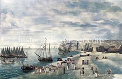 Historischen Ansicht der Insel Helgoland in der Nordsee.