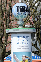 Fotos aus dem Hamburger Stadtteil Niendorf, Bezirk Eimsbüttel; Werbekugel für das Tibarg Center.