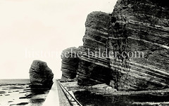 Historische Ansicht der deutschen Nordseeinsel Helgoland