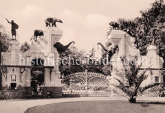 Ehemaliger Haupteingang vom Tierpark Hagenbeck, Entwurf Theaterarchitekt Moritz Lehmann 1907.