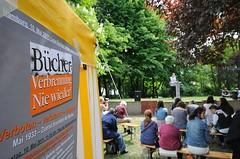 Veranstaltung Bücherverbrennung nie wieder - Lesemarathon am Mahnmal in Hamburg Eimsbüttel;