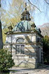 Fotos aus dem Hamburger Stadtteil Niendorf, Bezirk Eimsbüttel; alter Friedhof / Mausoleum Heymann, 1892.