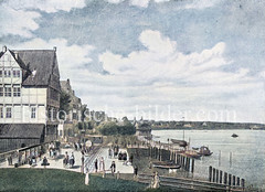 Altes Bild vom Hamburger Jungfernstieg, ca. 1800.