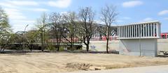 Bilder aus dem Hamburger Stadtteil Hafencity. Blick zu den Freihafen-Elbbrücken, re. ein Modell der Fassade vom Elbtower.