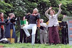 Aufführung Jüdischer Chor auf der Gedenkveranstaltung zur Bücherverbrennung. (2006)