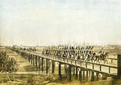Die Elbbrücke wurde durch Veranlassung der französischen Besatzungstruppen 1813 für militärische Zwecke errichtet; 1820 wurde die Elbbrücke wieder abgebrochen.