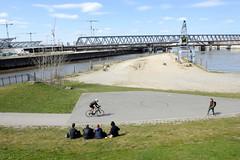 Fotos aus dem Hamburger Stadtteil Rothenburgsort. Blick auf den Löschplatz Billhafen und Oberhafenkanal.