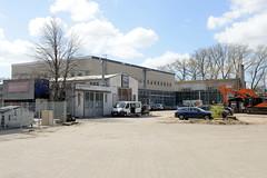 Fotos aus dem Hamburger Stadtteil Groß Borstel, Bezirk Hamburg Nord; Hallen auf dem Stüver-Gelände. Auf dem 60 000 m² großen Grundstück sollen 400 Wohnungen entstehen.