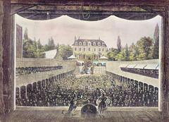 Blick von der Bühne des Tivoli in Wandsbek; die Plätze des Sommertheaters sind gut belegt.