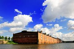 Speichergebäude am Dessauer Ufer des Saalehafens in Hamburg Kleiner Grasbrook