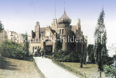 Historisches Bild von der Haltestelle Hasselbrook in Hamburg Eilbek.