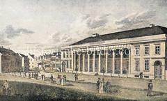 Historische Ansicht vom Wirtshaus Joachimsthal in St. Pauli, flanierende Passanten.