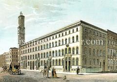 Postgebäude an der Poststraße in der Hamburger Neustadt, erbaut 1847 - Architekt Alexis de Chateauneuf.