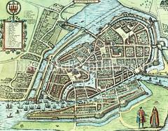 Historische Karte der Hansestadt Hamburg, 17. Jhd.