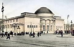 Anbau der Hamburger Kunsthalle in der Altstadt - Entwurf Albert Erbe / Alfred Lichtwark, Realisierung Kurt Schumacher 1919.