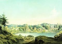 Panorama vom Mühlenteich in Reinbek, ca. 1855.