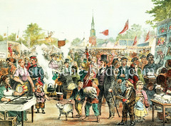 Der Lämmermarkt war ein Volksfest, das am Freitag vor Pfingsten vor dem Steintor stattfand. Ab 1874 wude der Lämmermarkt beim Lübecker Tor abgehalten.