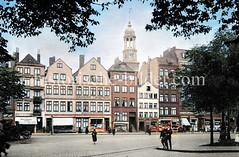 Altes Bild vom Zeughausmarkt in der Hamburger Neustadt. Der Name rührt von dem früher hier befindlichen Zeughaus des Bürgermilitärs her  (ca. 1923).