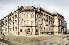 Historische Ansicht vom Hamburger Museum für Kunst und Gewerbe - das Gebäude wurde als staatliches Technikum und Museum für Kunst und Gewerbe 1873-1875 erbaut, Architekt Carl Johann Christian Zimmermann.