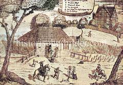 Die Quelle des Gesundsbrunnens beim Ausschläger Weg  in Hamm wurde 1633  entdeckt.
