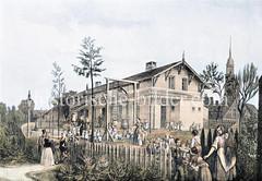 Warteschule auf dem Hamburger Elbberg / Stintfang - eröffnet 1829 für Kinder im Alter von zwei bis 6 Jahren.
