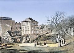 Historische Ansicht der Dammtorstraße, re. der Dammtorwall - lks.  das Waterloo Hotel.