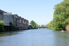 Gewerbegebiet am Billekanal in Hamburg Rothenburgsort.
