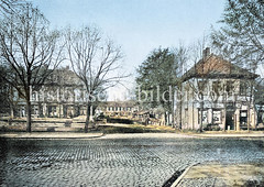Borgesch, Vorland von Hamburg St. Georg - das Gelände wurde ab 1873 mit Straßen versehen und bebaut.