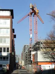 Fotos aus dem Hamburger Stadtteil Neustadt, Bezirk Hamburg Mitte; Baustelle in der Admiralitätsstraße / Alsterfleet (2002).