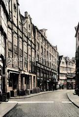 Historische Ansicht der Düsternstraße in der Hamburger Neustadt (ca. 1925).