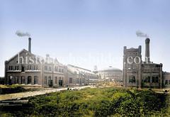 Das Gaswerk Hamburg Barmbek wurde 1873 errichtet.