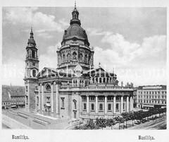 Historisches Foto von Budapest (ca. 1900); Basilika.