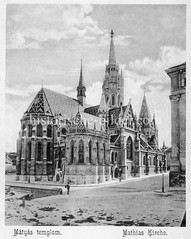 Historisches Foto von Budapest (ca. 1900); Mathias Kirche.