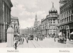 Historisches Foto von Budapest (ca. 1900); Elisabethring.